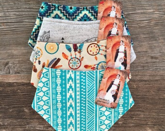 Southwestern Bandana Bib & Burp Cloth Set