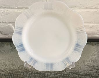One Set of Six MacBeth - Evans Glass  American Sweetheart Monax Luncheon Plates