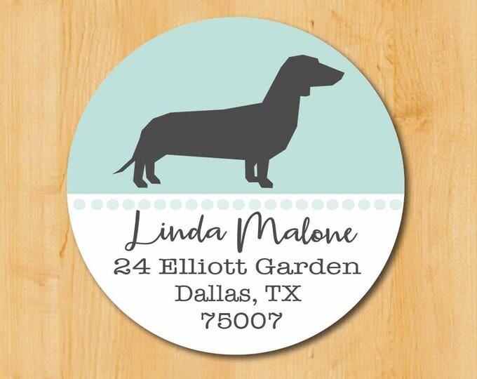 Dachsund Return Address Sticker | Dachsund Stickers | Gift Dog Lover | Dachsund Dog Label | Dachsund lover gift | Gift Dachsund Lover