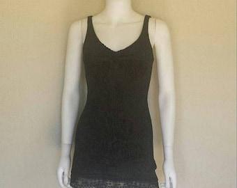 25% off SALE 90s black velvet burnout mini dress