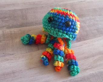 Jellyfish Colorful Crocheted Plush