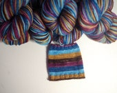 Wooly Mammoth - Self Striping Sock Yarn - Corriedale or Targhee (superwash wool with nylon) - Fingering or Sport weight