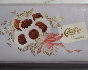 Box of chocolates Caillerz 50s 60s 70s 50 s 60 s 70 s vintage antique gift box