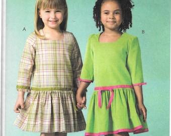 McCall's Ruffles and Lace DROPPED WAIST DRESS Pattern 4907 Child Sizes 2 3 4 5