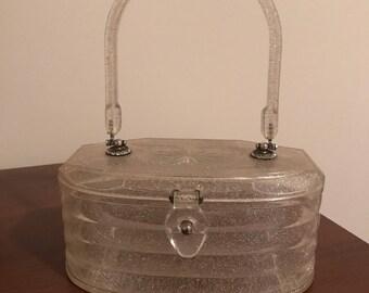 Sparkling Lucite Handbag