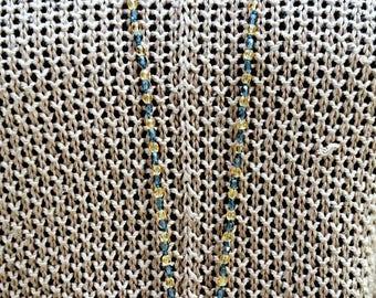 Mandala stone Lapiz Lazuli and Citrine necklace