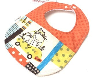 Monkey And Car Bib - Boys Car Bib - Bibs For Boys - Toddler Bib - Baby Boy Bibs - Baby Shower Gift Boy - Baby Bibs Handmade - Boy Bibs - 29