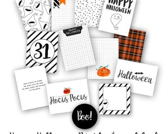 Happy Halloween Journal Card Pack