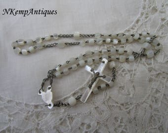 Antique shell rosary 1900 Mother of pearl