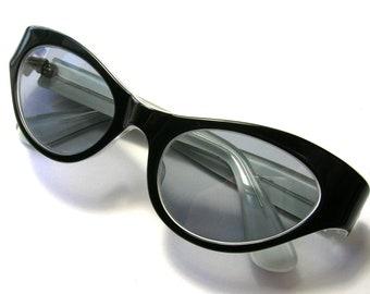1950s Black Cat Eye Sunglasses - France - Vintage Sunglasses