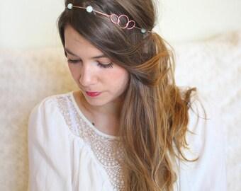 Rose gold 3 circle headband
