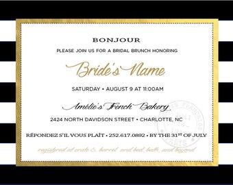 French Inspired Invite