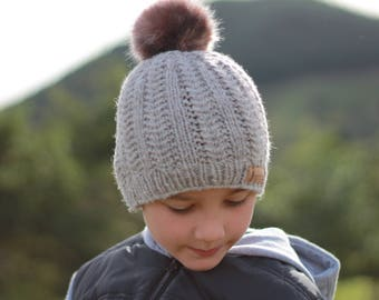"""Knitting Pattern pdf """"Griffin Beanie"""" Easy Cable Beanie, Toddler, Adult, Child PATTERN ONLY"""