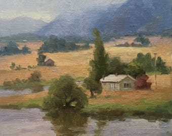 montana countryside - Original contemporary landscape painting - Oil Painting