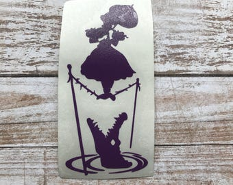 Tightrope Haunted Mansion Vinyl Decal Car Laptop Wine Glass Sticker