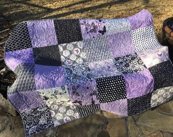 Purple quilt | Etsy : quilt purple - Adamdwight.com