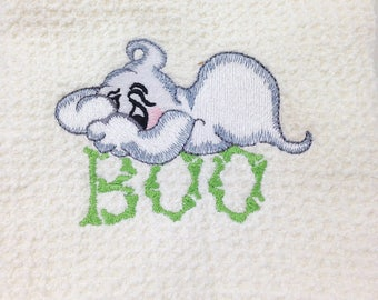 Halloween - Boo Ghost Microfiber Hand Towel - White