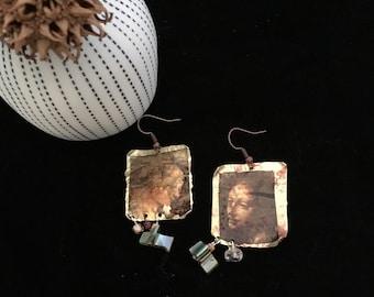 Rustic vintage earrings