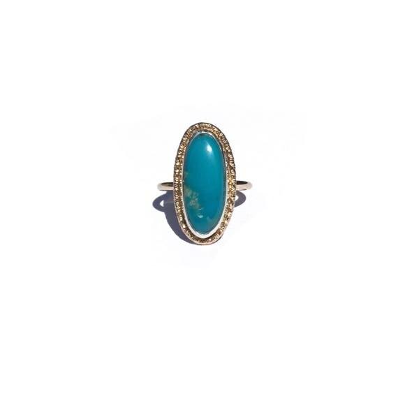 turquoise sunshine ring, size 6 1/4