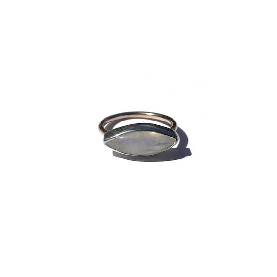 rainbow moonstone ring, size 5 3/4
