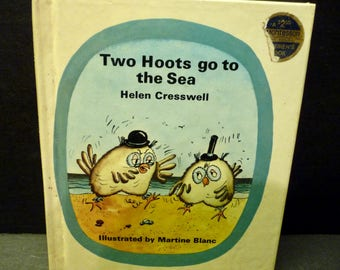 Two Hoots go to Sea- hardcover small Children's Montessori book-