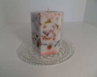 Mutlicolored Hexagon Scented Pillar Candle