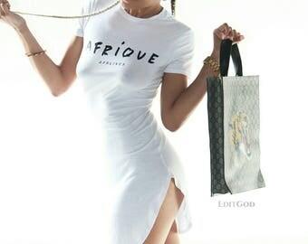 Afrique - White Tunic T-Shirt Dress