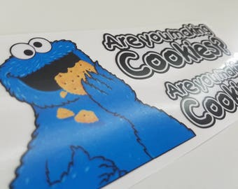 Cookie Monster Decal Sticker | Are You Making Cookies? Sticker | Stand Up Mixer, Kitchen Aid Mixer Decal | Cookie Monster Sticker |