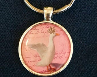 Duck Keychain and zipperpull Duck Lover Gift