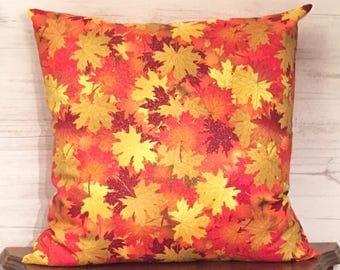 Fall Pillow Cover - Autumn Pillow - Fall Throw Pillow - Thanksgiving Pillow - Fall Decorating - Autumn Home Decor - Leaf Pillow