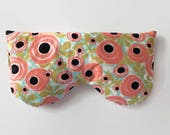 Heat Therapy Eye Mask Rice Bag, Hot/Cold Pack  - Roses Print