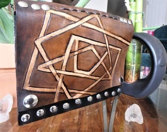 Geometric Leather Clutch bag