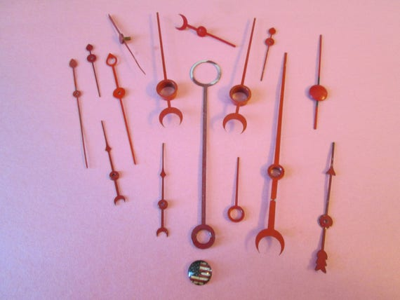 15 Assorted Antique & Vintage Mixed Metals Clock Second Hands and Guage Pointers for your Clock Projects, Steampunk Art, Jewelry Making...