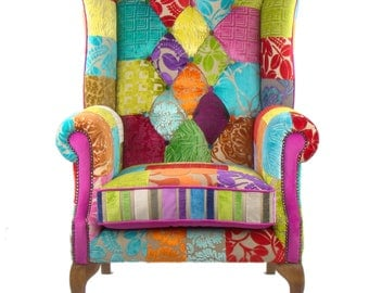 Patchwork Chair in Designers Guild Velvet