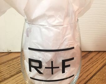 R+F Stemless Wine Glasses