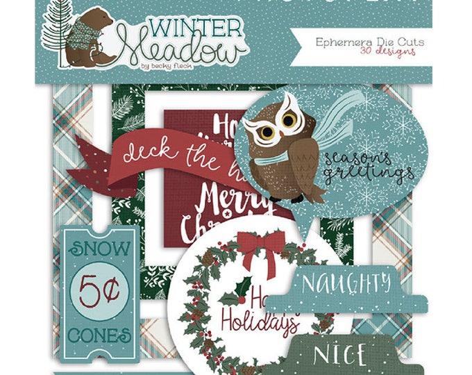 New! Photo Play WINTER MEADOW Christmas Holiday Theme Scrapbook Ephemera Pack