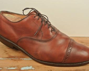 Allen Edmonds Byron Chili Brogued Cap Toe Balmoral Men's Size: 11.5D