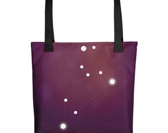 Tote bag - Zodiac Leo Constellation Tote Bag