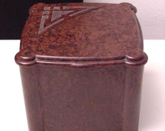 art deco bakelite tea caddy