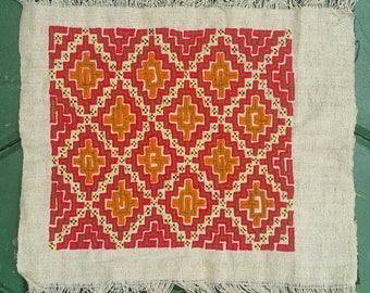 Hmong reverse applique on hemp fabric (H271)