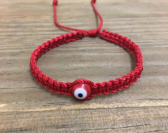 Red string bracelet. Red evil eye bracelet