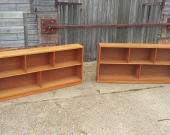 Pair of Stripped Retro Shelves Bookcase.