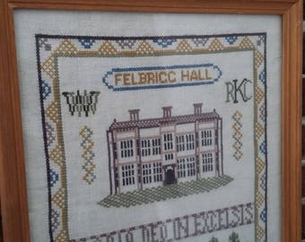 Vintage Sampler / Tapestry Felbrigg Hall Historic Building