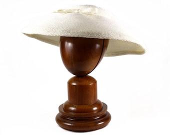 F. Martí Martí, S.A. Vintage Wide Brimmed Hat White Raffia