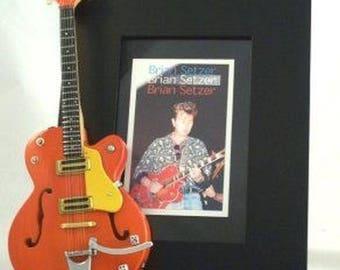 BRIAN SETZER  Miniature Guitar Photo Frame Stray Cats