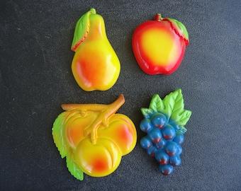 Miller Studio Fruit Chalkware Set   1979
