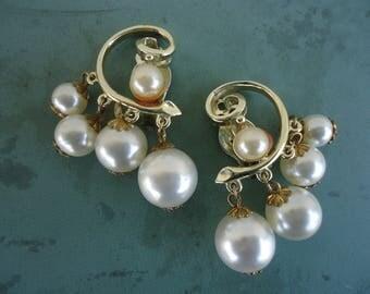 Faux Pearl Drop Clip on Earrings  - Lisner
