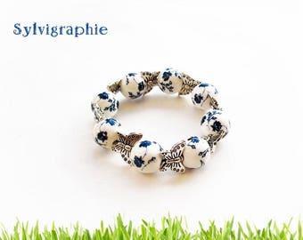 Bracelet beads and butterflies