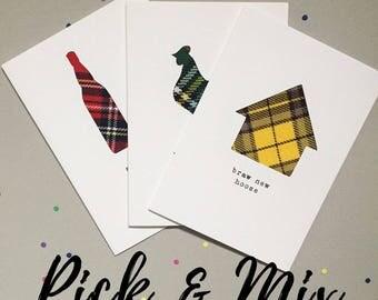 Pack of Funny Scottish Cards - Scottish Tartan Cards - Scottish Slang - Made In Scotland - Tartan - Pick and Mix
