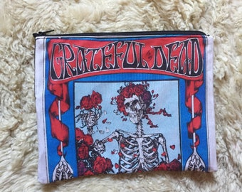 Grateful Dead Bertha Poster Zipper Pouch, Accessory Case